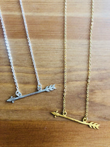 Fleur De Lis Arrow Necklace
