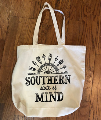 Southern State of Mind, Canvas Tote