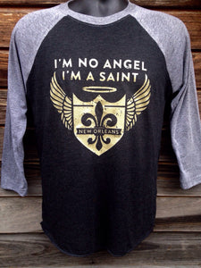 I'm No Angel, I'm a Saint- 3/4 Sleeve Jersey Shirt, Unisex