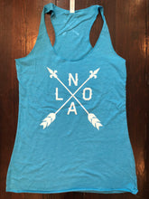 Blue NOLA Arrow Tank Top