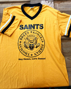 Hey, Heaux, Let's Geaux! Ramones Saints Jersey Shirt, Saints Shirt