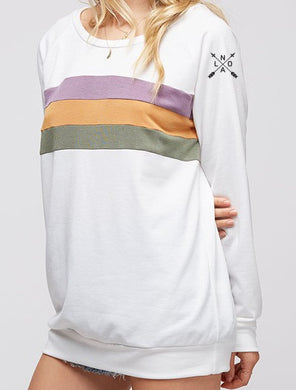 NOLA ARROW, Mardi Gras Center Block, French Terry Sweatshirt