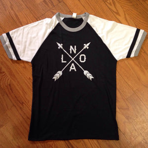 Black and White NOLA Arrow Shirt Jersey