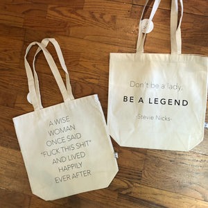 Dont be a lady, be a legend, Canvas Bag