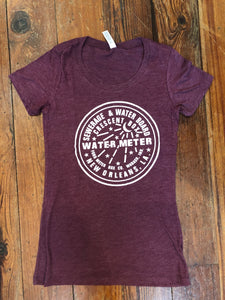 New Orleans Water Meter Shirt, Women's Tri-Blend