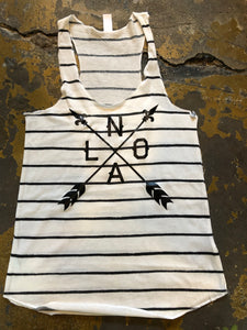 NOLA Arrow Stripes Racerback Tank