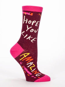 Hope You Like Amazing, Sock W-Crew Socks