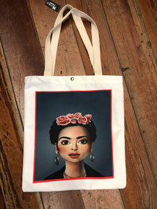 Frida Kahlo, Canvas Tote, 12x12