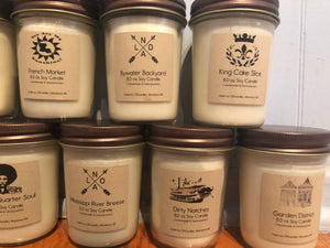 New Orleans Themed Soy Candles