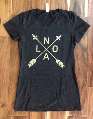 Black and Gold NOLA Arrow Shirt