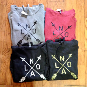 NOLA Arrow, Pull-Over Hoodie, Ultra Soft, Unisex