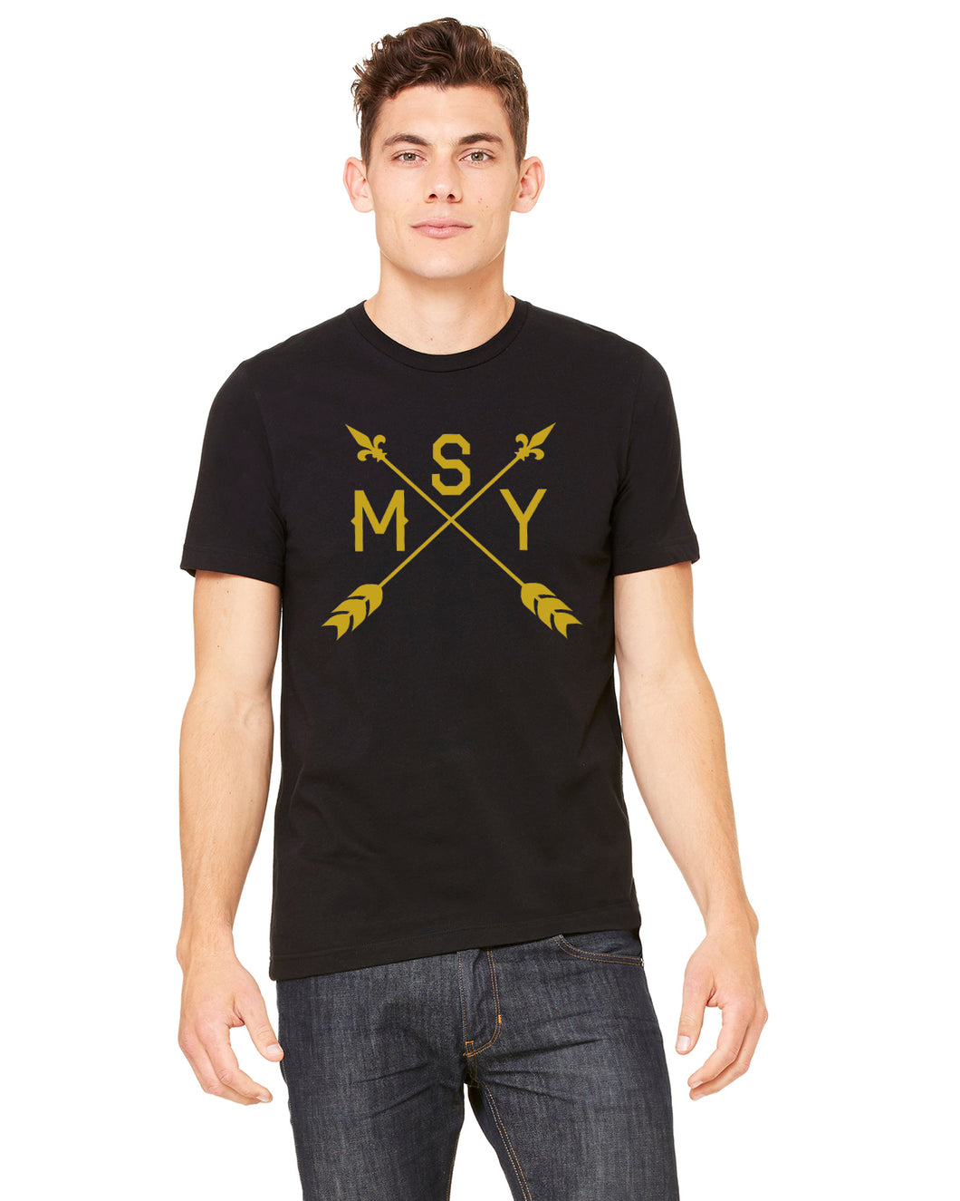 Point Me in the Direction of New Orleans, MSY Airport Code, Mens Shirt