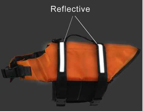 reflective stripes on dog life jacket