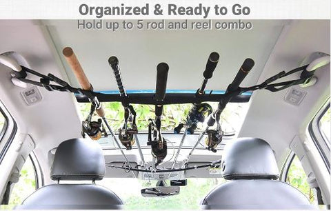 Car fishing rod holder, fishing rod straps, fishing pole racks, fishing pole car holder