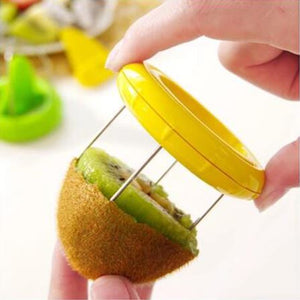 yellow no peeling and no cutting two second kiwi cutter