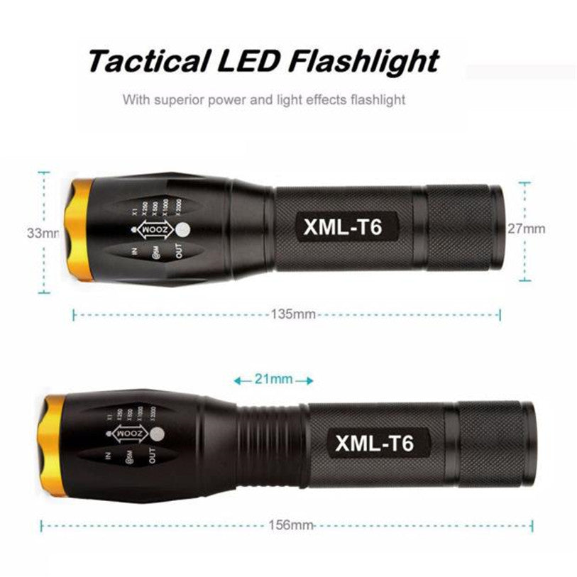 Waterproof Tactical Flashlight