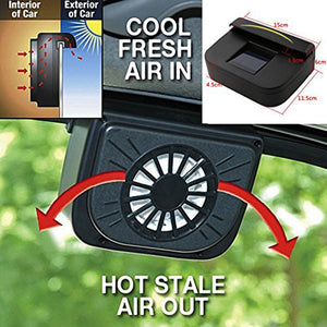 Solar power car cooler fan to keep car interior cooler in hot summer weather and how it works.