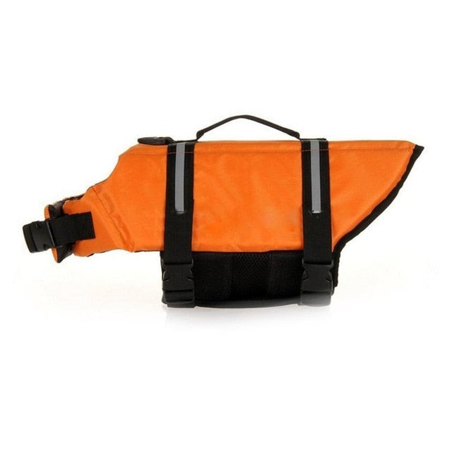 orange dog life jacket