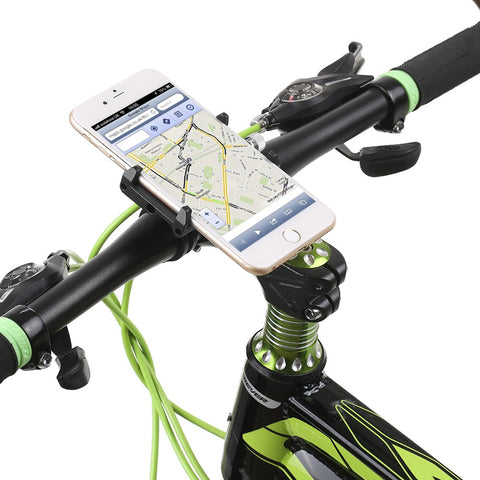 bike phone mount with cell phone on bike handle bars