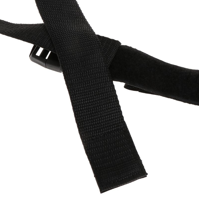 Close up of portable fishing rod straps for inside of car to carry your fishing poles and reels