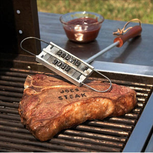grilling and cook out branding iron for steaks