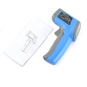 Laser thermometer digital gun and drawing of Laser thermometer digital gun.