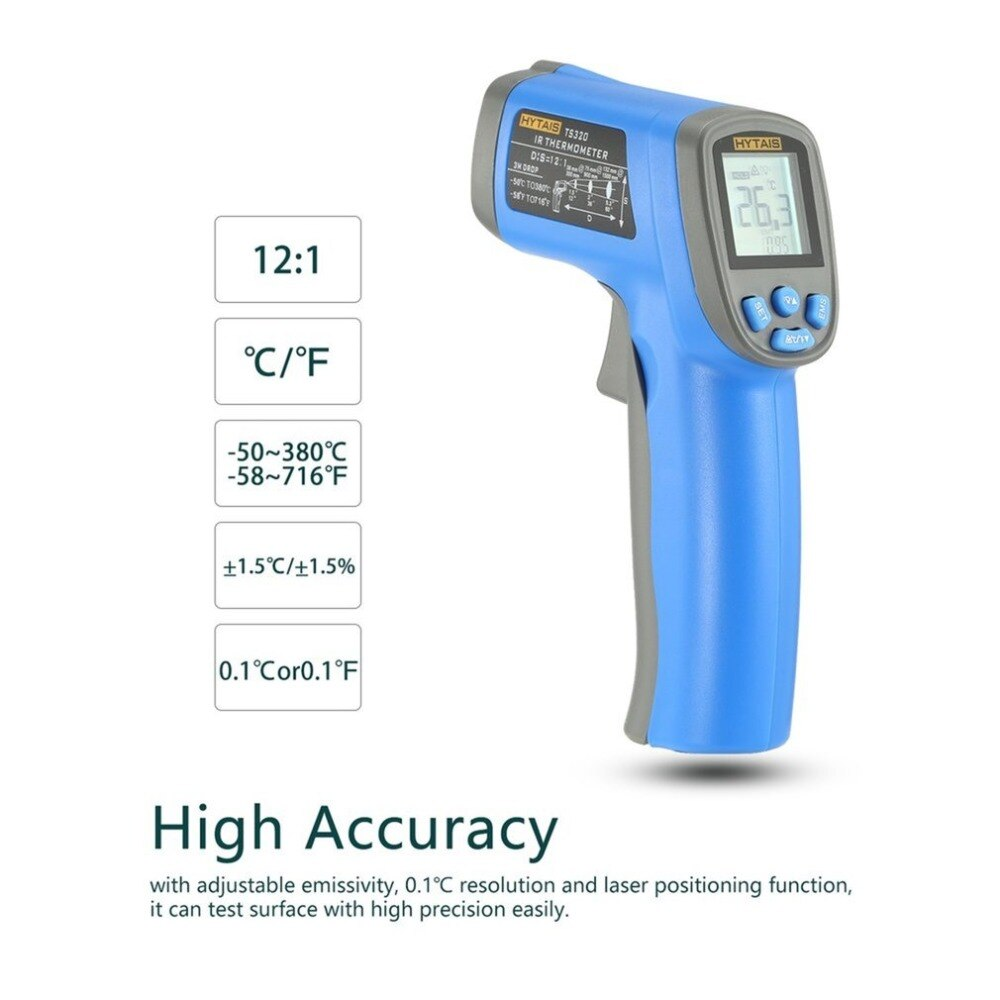 Laser thermometer digital gun high accuracy.