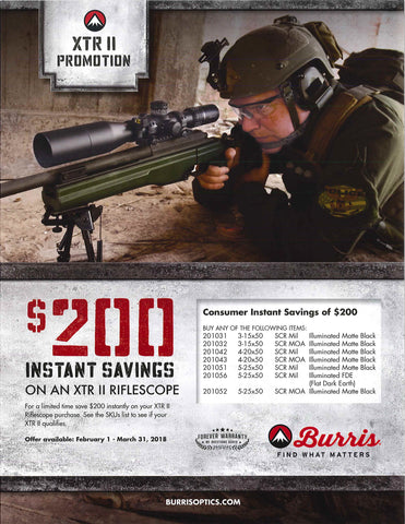 Burris XTR II Rifle Scope Promotion