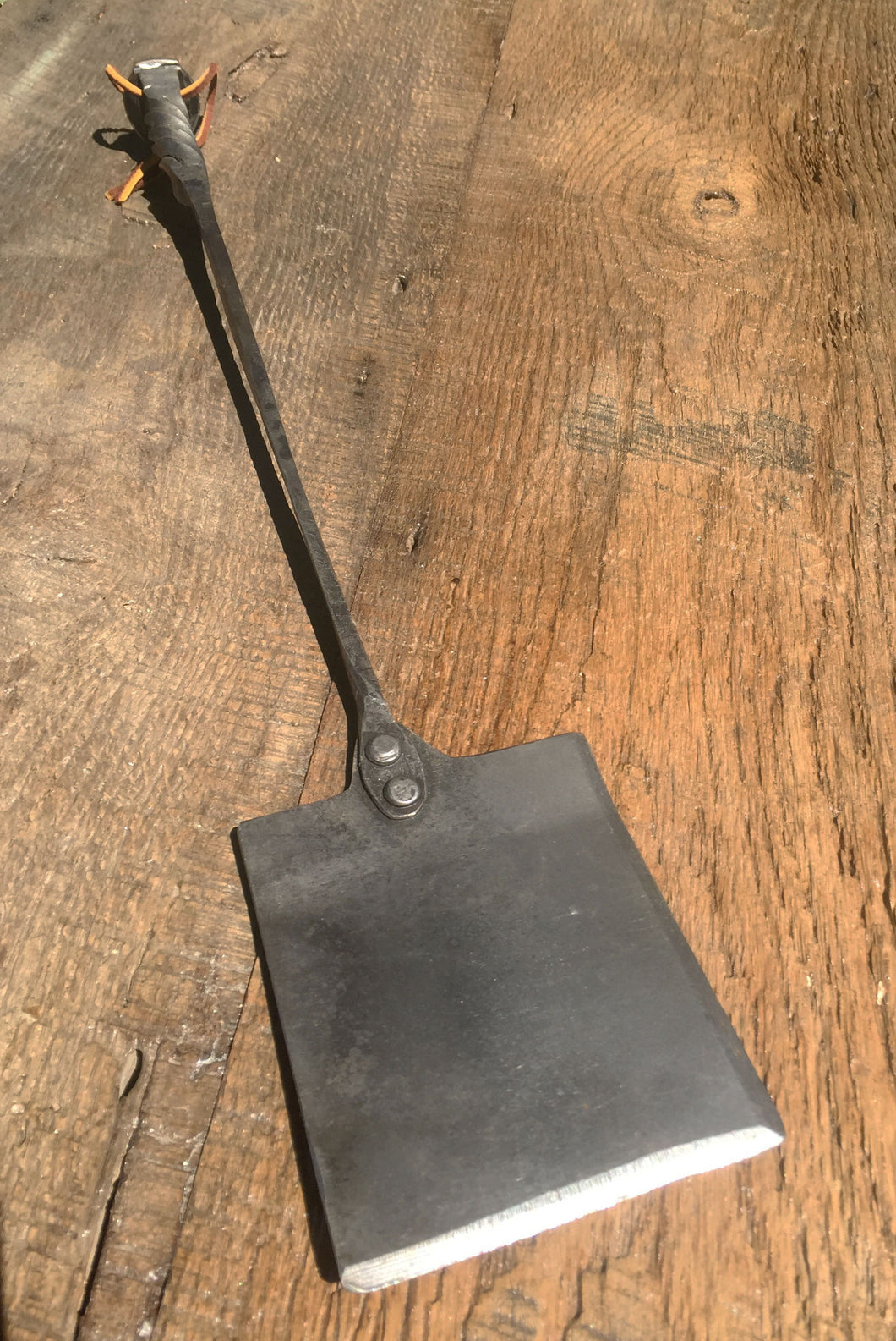 hand forged railroad spike spatula