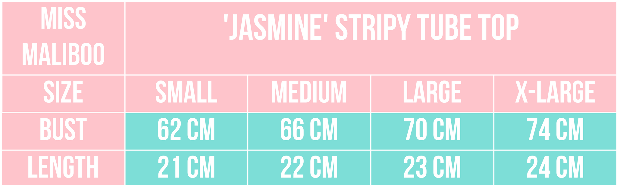 'JASMINE' STRIPY TUBE TOP MISS MALIBOO