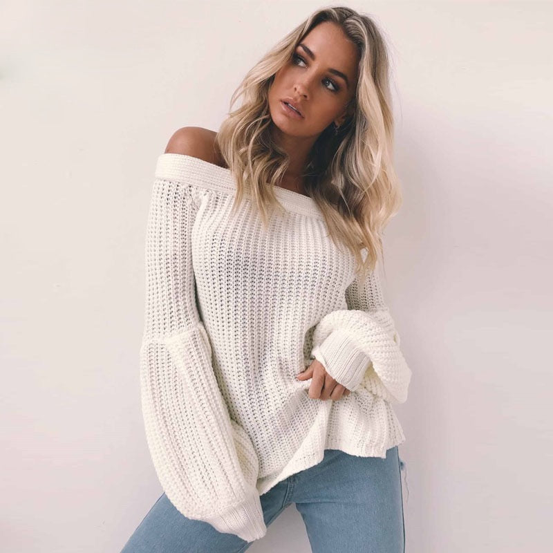 'Lily' Off Shoulder Pullover - Miss Maliboo