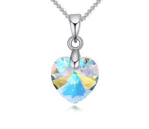 Love Heart Crystal Pendant - Miss Maliboo