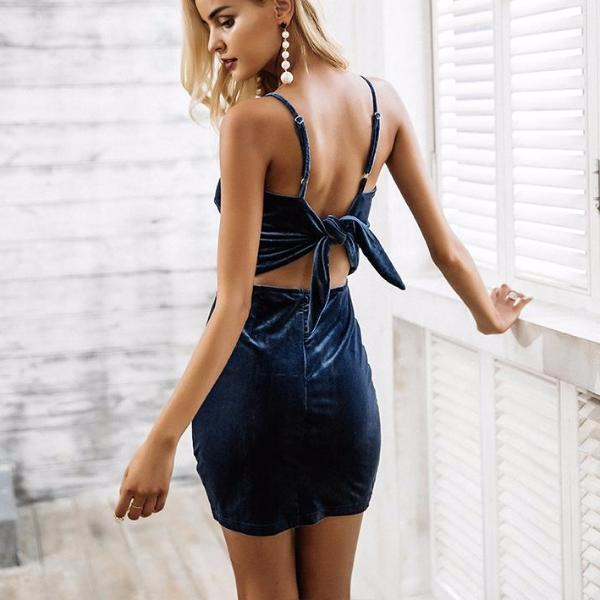 'Boss Babe' Velvet Bow Dress - Miss Maliboo