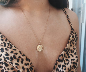 Rose Coin Necklace - Miss Maliboo