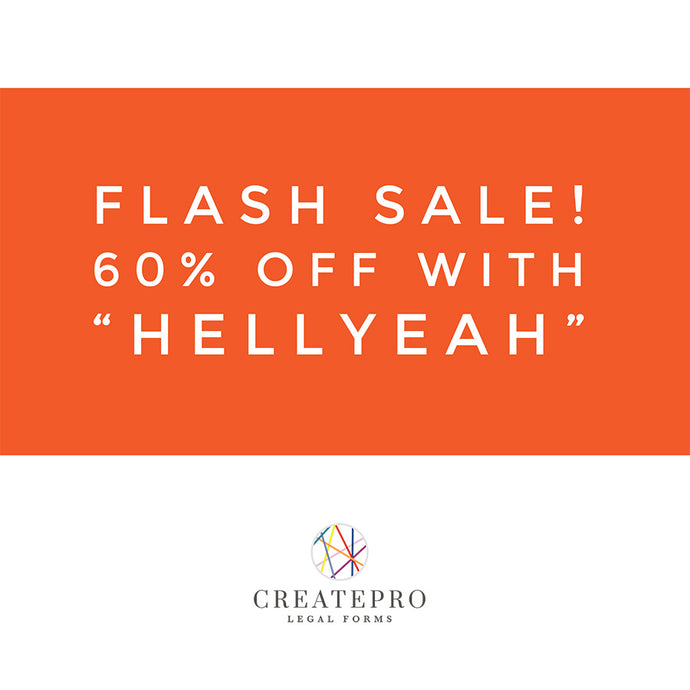 Flash Sale!  60% off!