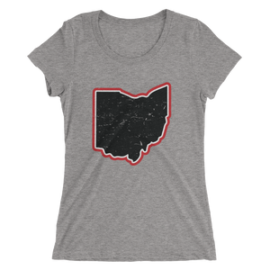 Ohio Vintage Map - Womens Tee
