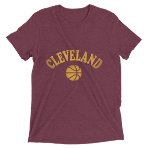 Wine & Gold Basketball - Unisex Tee