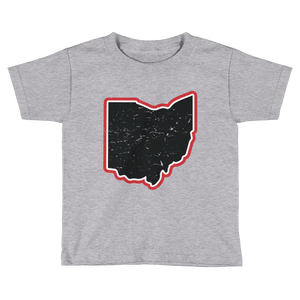 Vintage Ohio Map - Relaxed Fit Toddler Tee