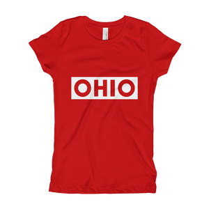 Ohio Stamp - Little Girls Tee