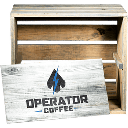 Operator Coffee Display Crate