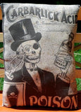 Halloween monocle steampunk skeleton pillow drink acid party prop old poison
