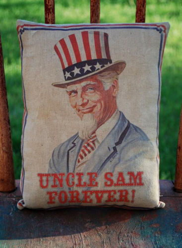 Uncle Sam forever Patriotic American flag Pillow 4th of July star stripes party