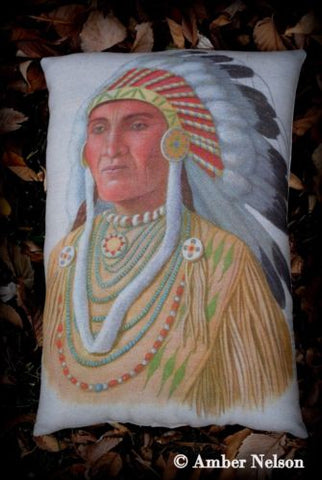 Thanksgiving day decor beautiful Indian headdress pillow native American