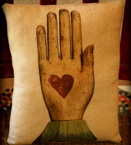 Valentines day friendship pillow gift heart in hand pillow love friend