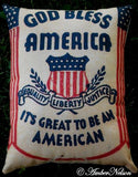 God bless America It's good to be an American Pillow Old sign flag 4th of July