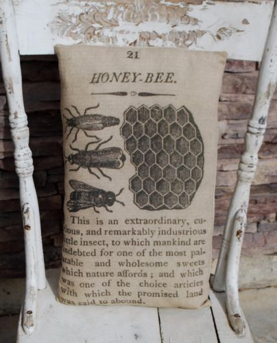 Farmhouse garden bees book page hive pillow old look spring skep summer botany