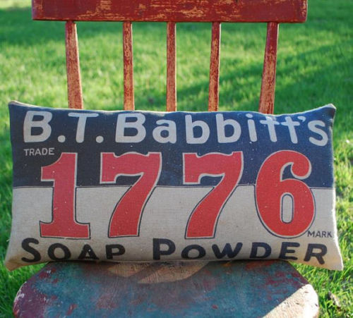 4TH OF JULY American Sign 1776 soap powder bathroom laundry
