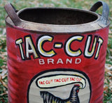 BIG Tac Cut Chicken Coffee container tin bin hand painted primitive farmhouse