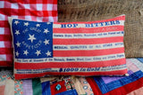 American flag hop bitters advertisement Primitive stars country 4th of July sign