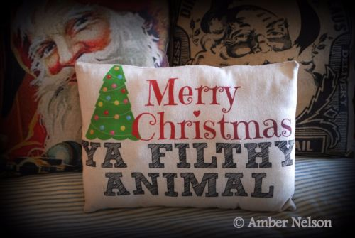 Merry Christmas Ya filthy animal home alone saying gift hilarious funny fun